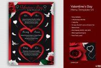 Valentines Day Menu Template V for Free Valentine Menu Templates
