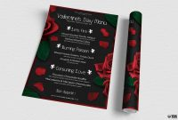Valentine's Day Menu Template V  Free Posters Design For Photoshop with regard to Free Valentine Menu Templates