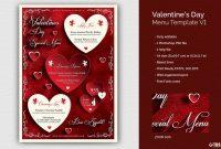 Valentines Day Menu Template V pertaining to Free Valentine Menu Templates