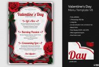 Valentines Day Menu Template Vthats Design Store inside Free Valentine Menu Templates