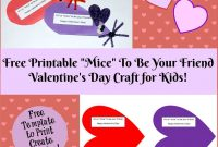 Valentine's Day Printable Card Crafts For Kids To Create  Wikki Stix with regard to Valentine Card Template For Kids