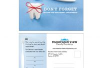 Variable Data Appointment Card Templates  Gargle  Marketing in Dentist Appointment Card Template