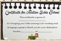 Vbs Certificate Template  Youtube within Free Vbs Certificate Templates