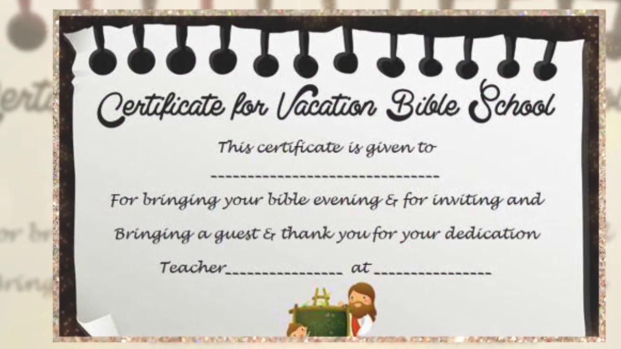 Vbs Certificate Template  Youtube Within Vbs Certificate Template