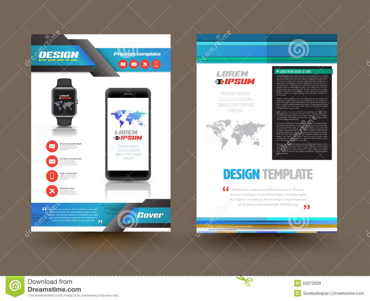Vector Brochure Template Design For Technology Product Stock Vector Inside Product Brochure Template Free