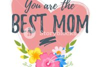 Vector Cartoon Style Template For Mothers Day Greeting Card Template inside Mom Birthday Card Template
