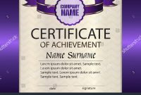 Vector Certificate Achievement Template Award Winner Stock Vector inside Certificate Of Attainment Template