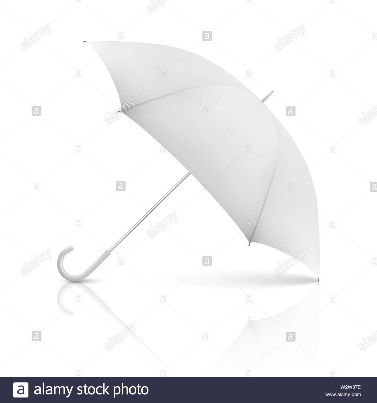 Vector D Realistic Render White Blank Umbrella Icon Closeup Throughout Blank Umbrella Template