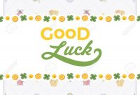 Vector Decorating Design Made Of Lucky Charms And The Words inside Good Luck Card Template