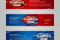 Vector Design Banner Web Template For Sport Event  Trend inside Event Banner Template