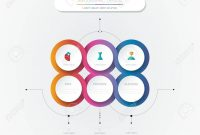 Vector Infographic D Circle Label Template Designgraph With regarding Template For Circle Labels