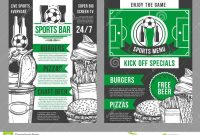Vector Soccer Sports Bar Football Pub Menu Design Stock Vector throughout Football Menu Templates