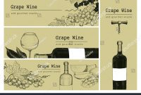 Vector Template Card Label Banner Background Stockvektorgrafik with Wine Bottle Label Design Template