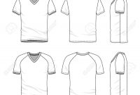Vector Templates Of Clothing Set Front Back Side Views Of Stock with regard to Blank V Neck T Shirt Template