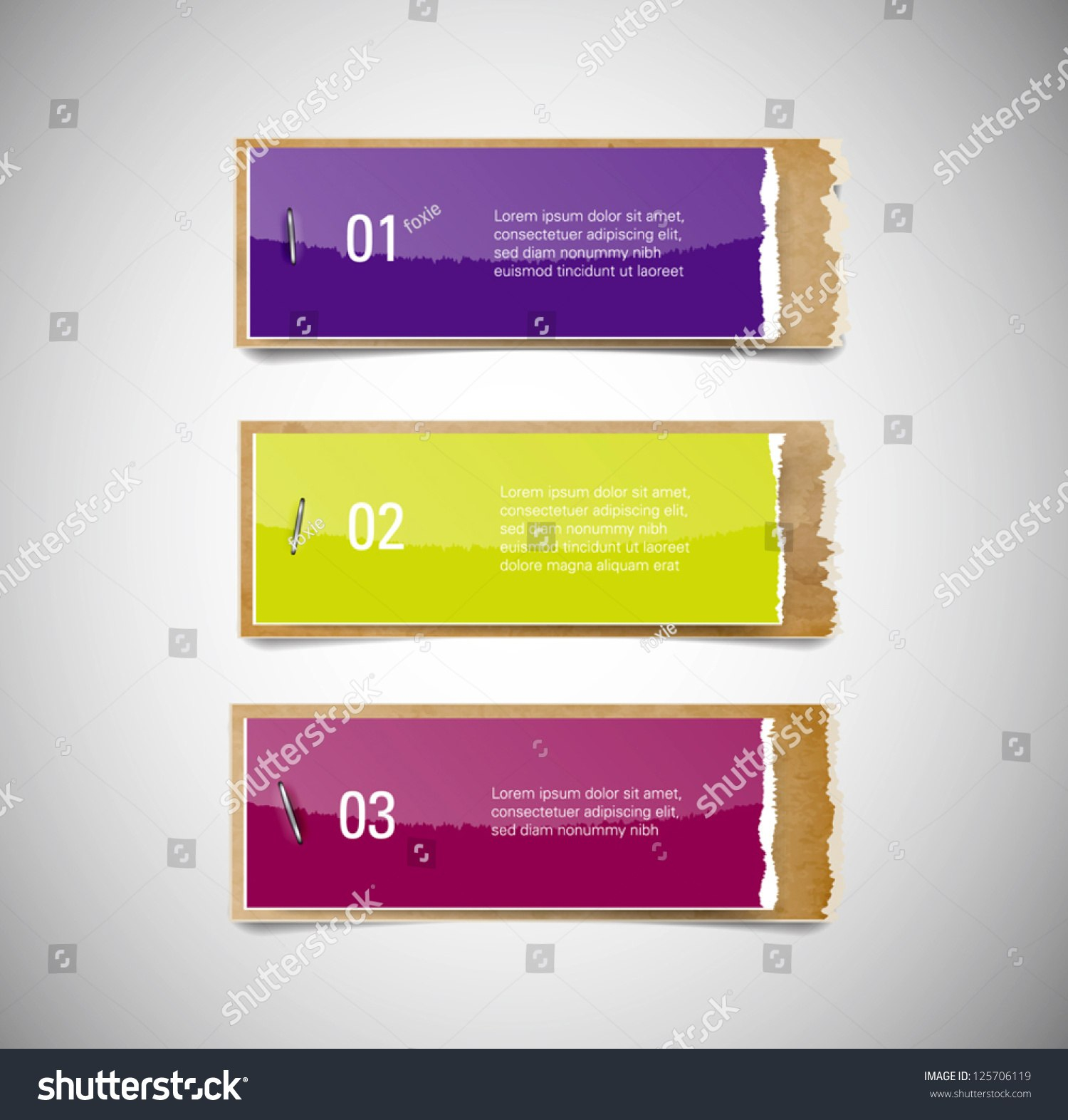Vector Torn Glossy Paper Old Used Stock Vector Royalty Free Regarding Staples Banner Template