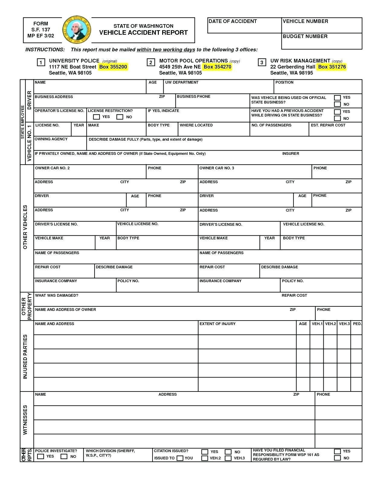 Vehicle Accident Report Form Template Doc Phenomenal Ideas Car With Motor Vehicle Accident Report Form Template