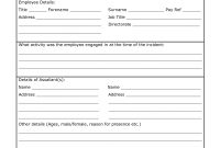 Vehicle Accident Report Form Template Printable Incident Forms with regard to Incident Report Form Template Doc