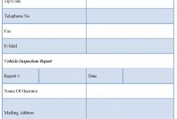 Vehicle Inspection Report Template  Editable Forms for Vehicle Inspection Report Template