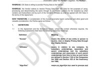 Vendor Agreement Templates For Restaurant Cafe  Bakery  Pdf in Vendor Take Back Agreement Template