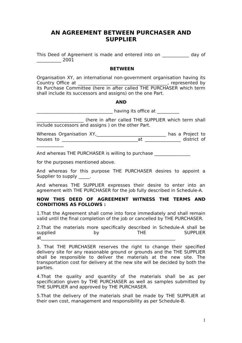 Vendor Agreement Templates For Restaurant Cafe  Bakery  Pdf Pertaining To Vendor Take Back Agreement Template