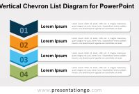 Vertical Chevron List For Powerpoint  Presentationgo regarding Powerpoint Chevron Template
