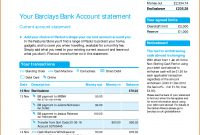 Viewing Gallery For  Bank Account Statement  I'd In inside Credit Card Bill Template