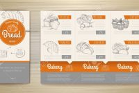 Vintage Bakery Menu Design Restaurant Menu Document Template in Sample Menu Design Templates