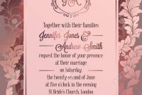 Vintage Baroque Style Wedding Invitation Card Template Elegant with Church Invite Cards Template