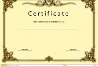 Vintage Certificate Award  Diploma Template Stock Illustration inside Beautiful Certificate Templates