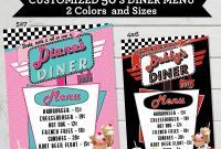 Vintage Diner Menu Template with regard to 50S Diner Menu Template