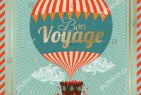 Vintage Hot Air Balloon Bon Voyage… Stock Photo   Avopix with regard to Bon Voyage Card Template