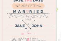 Vintage Wedding Invitation Card Template Stock Vector  Illustration inside Church Wedding Invitation Card Template