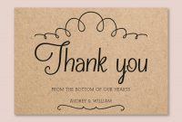 Vintage Wedding Thank You Card Template For Word Or Pages  Etsy for Thank You Card Template Word