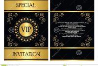 Vip Invitation Card Template Stock Vector  Illustration Of Company for Event Invitation Card Template