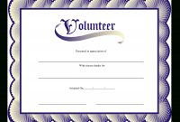 Volunteer Certificate  Templates At Allbusinesstemplates intended for Volunteer Certificate Templates