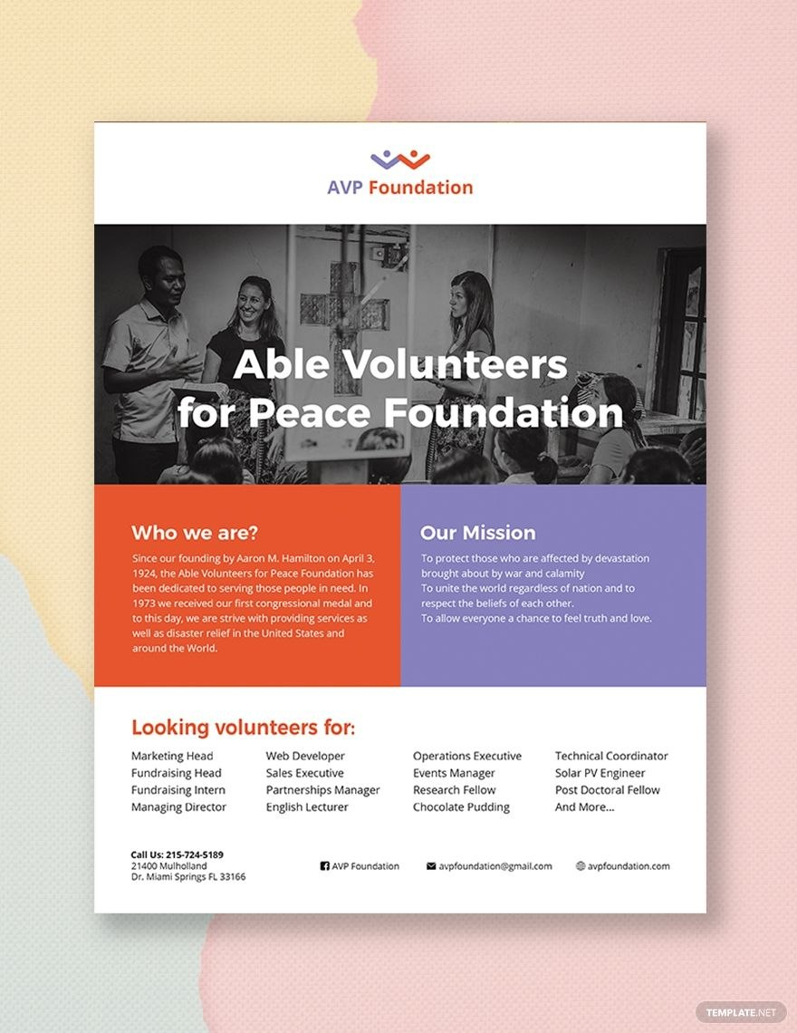 Volunteer Flyer  Nm  Booklet Template Flyer Template Microsoft Throughout Volunteer Brochure Template