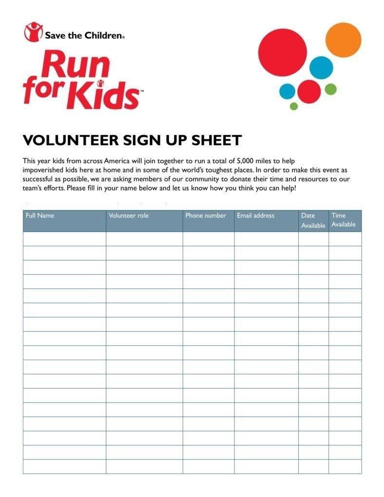 Volunteer Signup Sheet Templates  Pdf  Free  Premium Templates Pertaining To Volunteering Form Disclaimer Templates