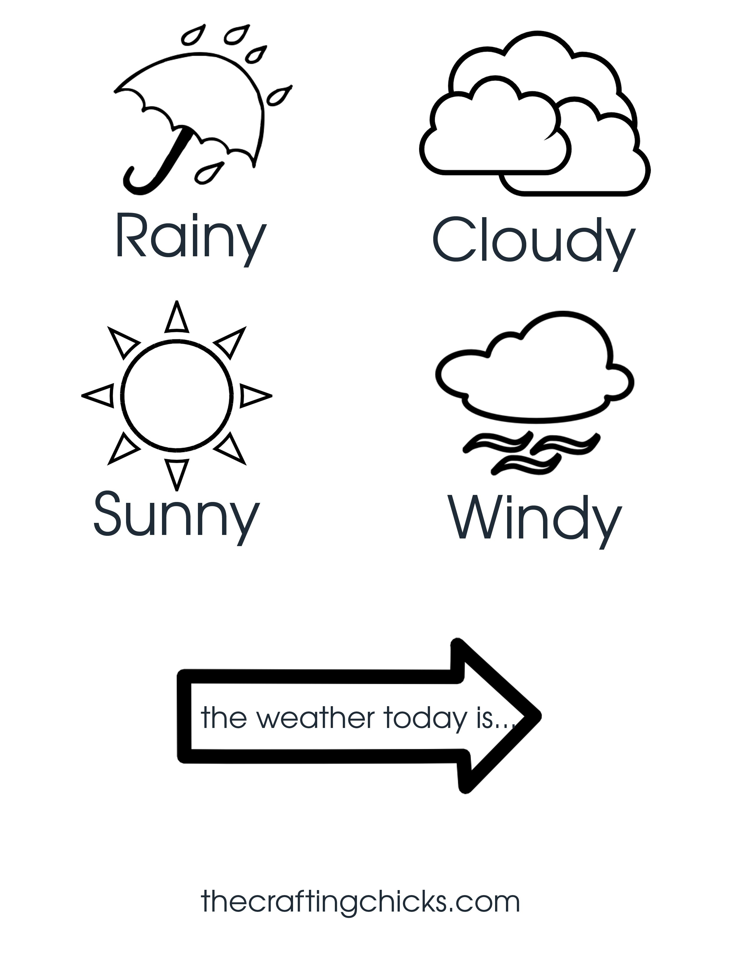 Weather Chart Kid Craft  The Crafting Chicks Regarding Kids Weather Report Template