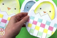 Weaving Chick Cards With Template  Easy Easter Card Diy Ideas  Youtube in Easter Card Template Ks2