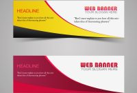 Web Banner Wavy Vector Design  Header Banner Design Template for Website Banner Design Templates
