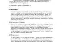 Web Site Maintenance Contract  Web Development Contracts  Legal for Website Development Agreement Template