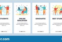 Web Site Onboarding Screens College Education And University throughout College Banner Template