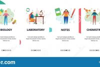Web Site Onboarding Screens Science Experiment Chemistry pertaining to Science Fair Banner Template