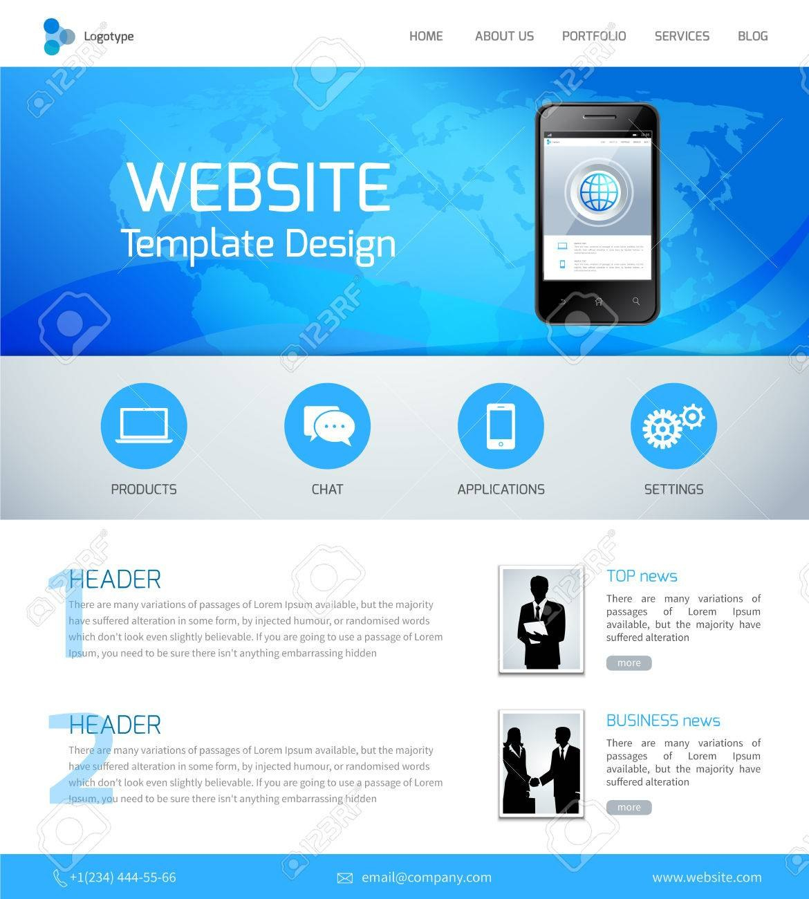 Website Design Template With Menu And Navigation Layout Elements Regarding Free Website Menu Design Templates