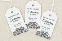Wedding Favor Tags Templates Template Incredible Ideas Free within Bridal Shower Label Templates