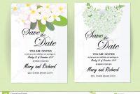 Wedding Invitation Card Flowersjasmine Stock Vector  Illustration throughout Wedding Card Size Template
