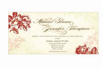 Wedding Invitation Card Template Awesome Using Wedding Invitation pertaining to Sample Wedding Invitation Cards Templates