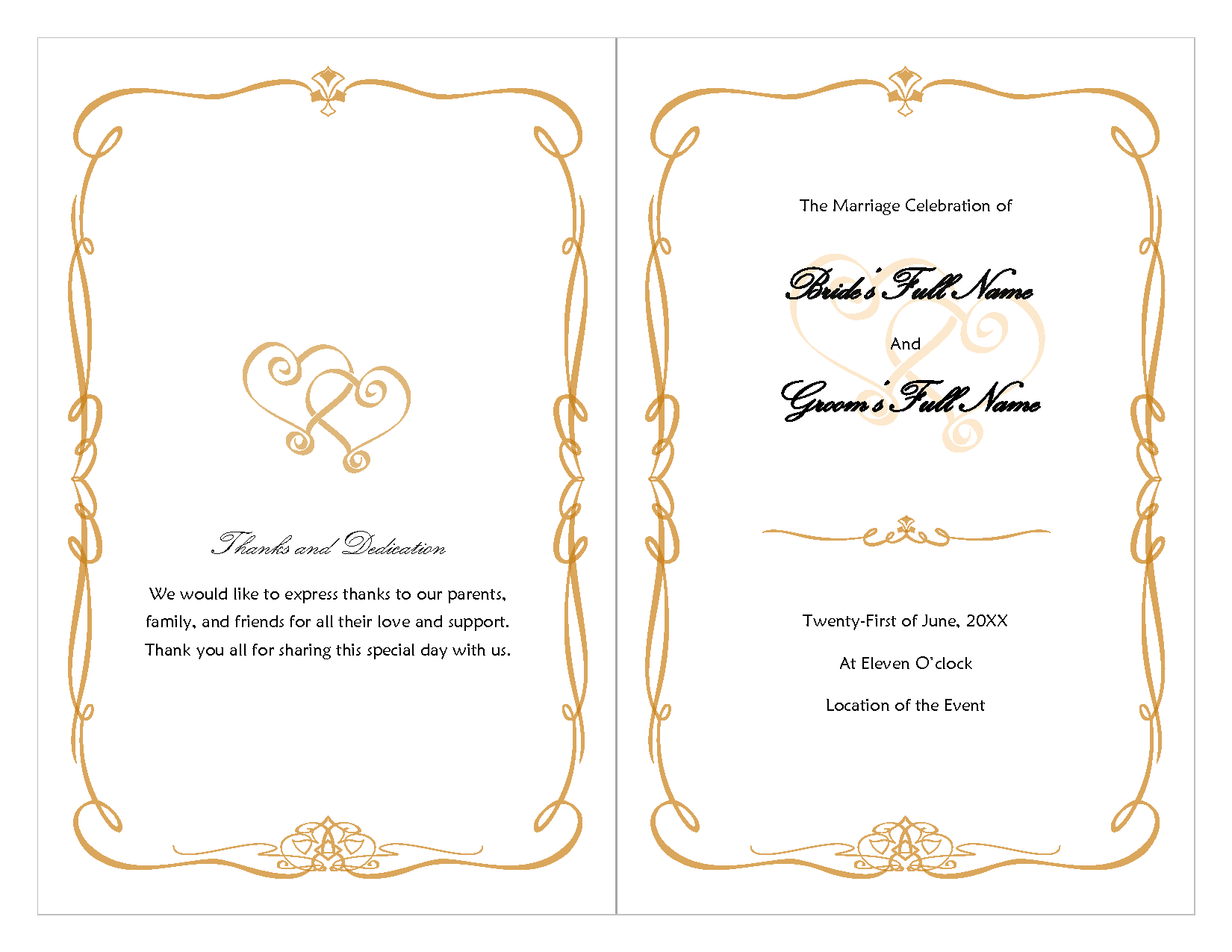 Wedding Invitation Latest Trend Wedding Decorating Wedding Borders Inside Free Printable Wedding Program Templates Word