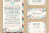 Wedding Invitation Template Thank You Card Save The Date Rsvp for Template For Rsvp Cards For Wedding
