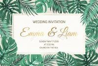 Wedding Marriage Event Invitation Card Template Exotic Tropical inside Event Invitation Card Template